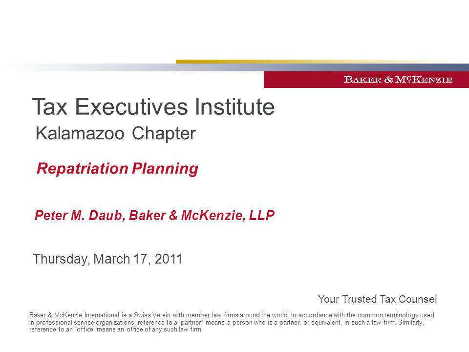Tax Executives Institute