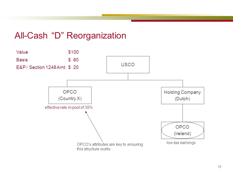 All-Cash D Reorganization