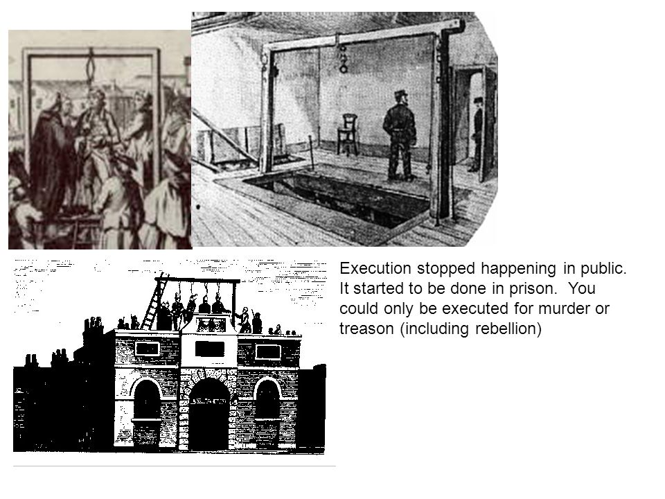 Execution stopped happening in public. It started to be done in prison