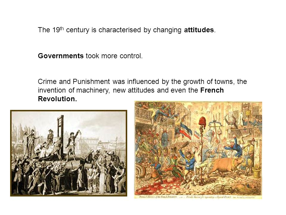 The 19th century is characterised by changing attitudes.