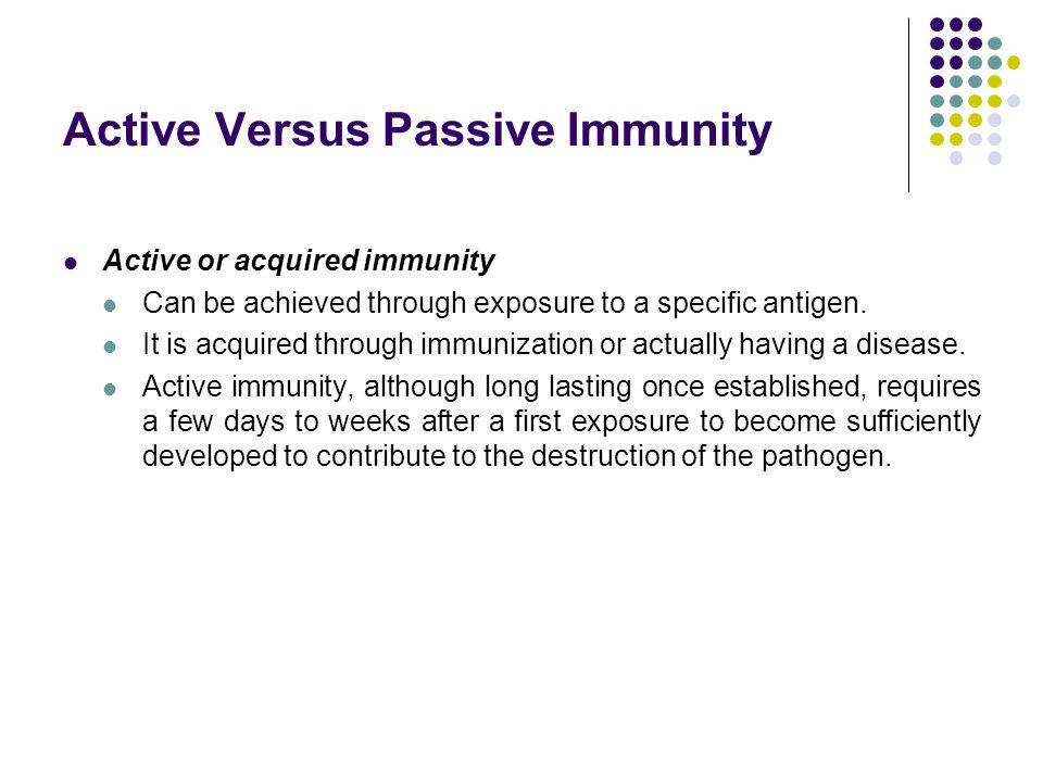 Active Versus Passive Immunity