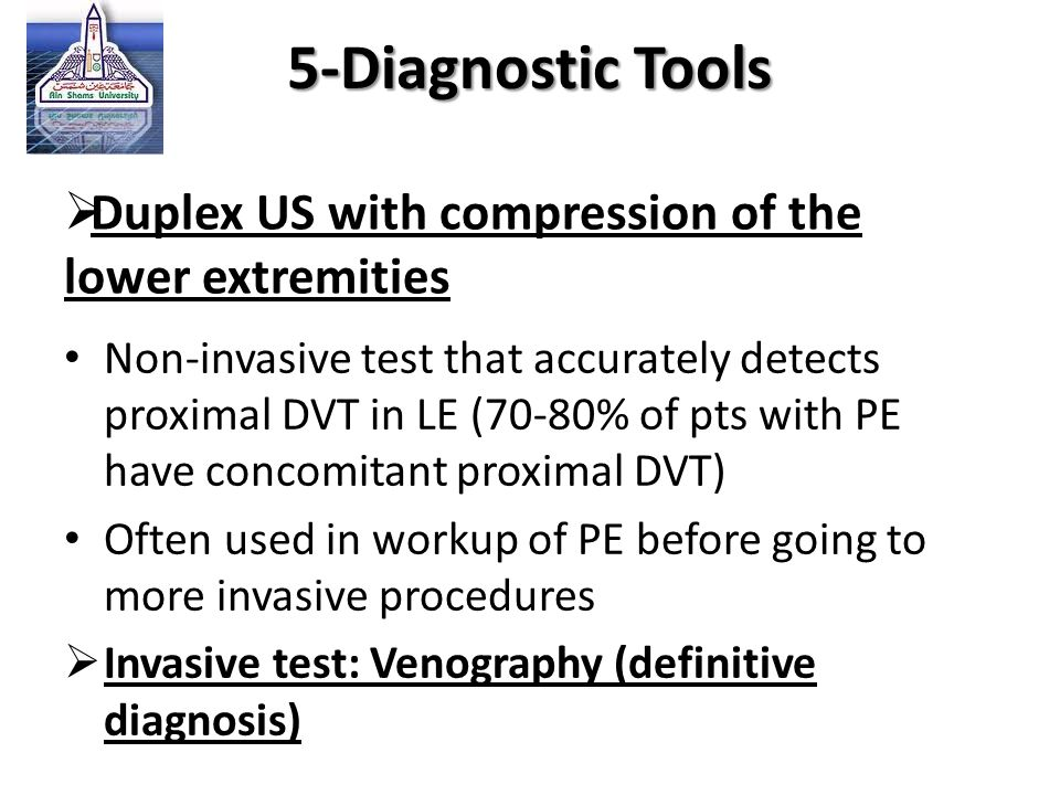 Duplex US with compression of the lower extremities