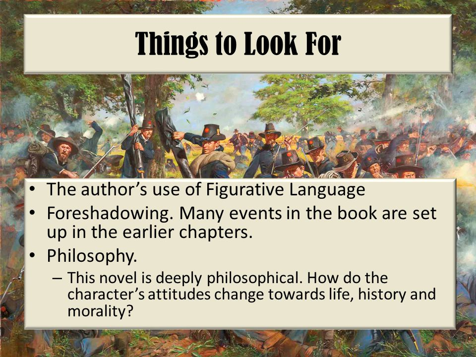 Things to Look For The author's use of Figurative Language