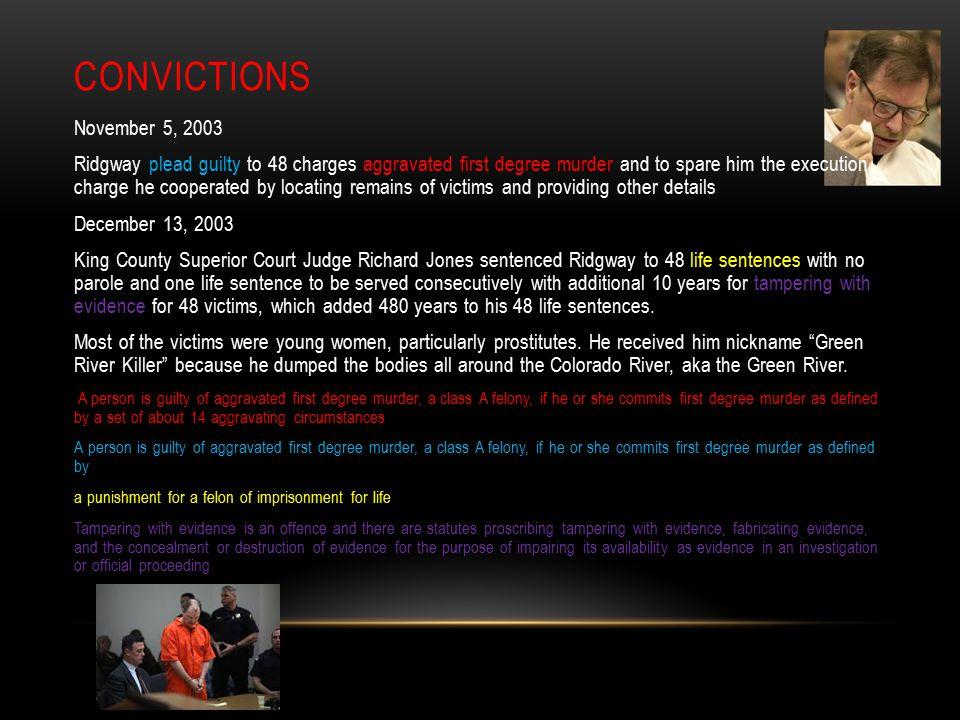 Convictions November 5, 2003.
