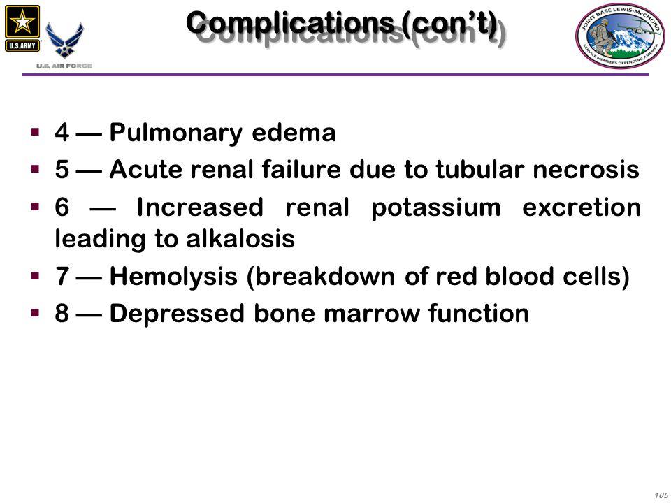 Complications (con't)