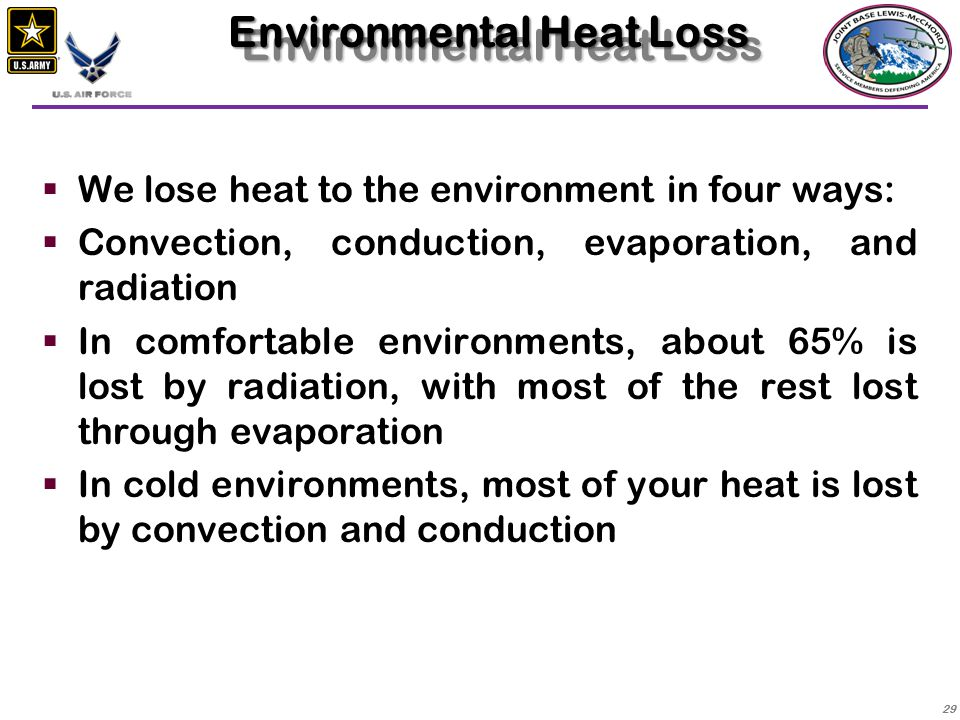 Environmental Heat Loss