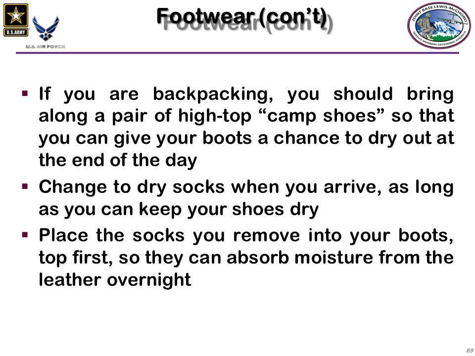 Footwear (con't)
