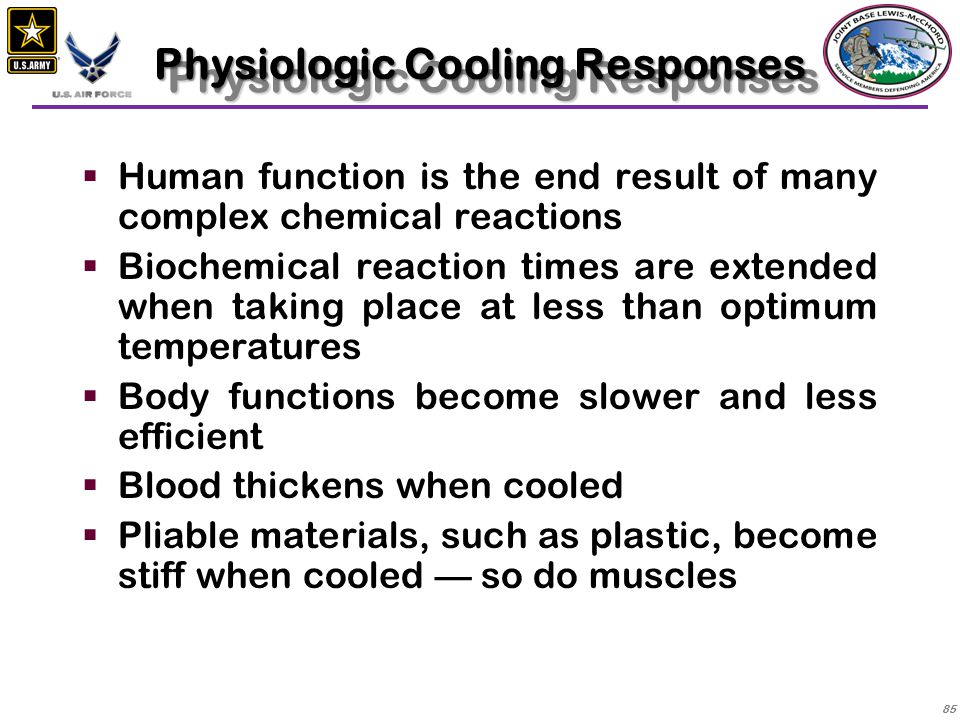 Physiologic Cooling Responses