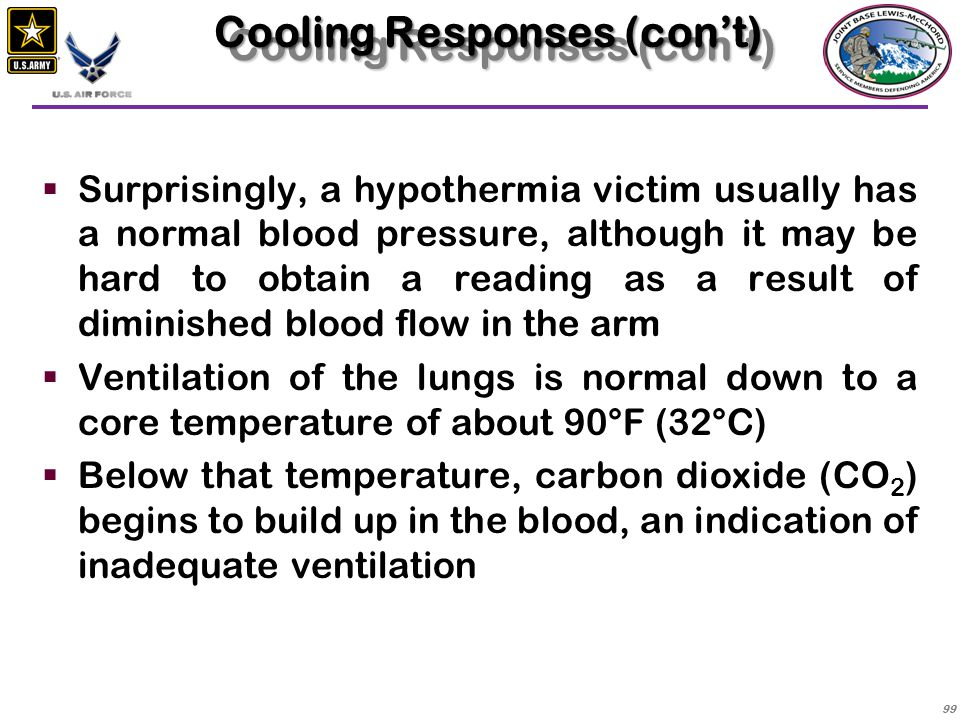 Cooling Responses (con't)