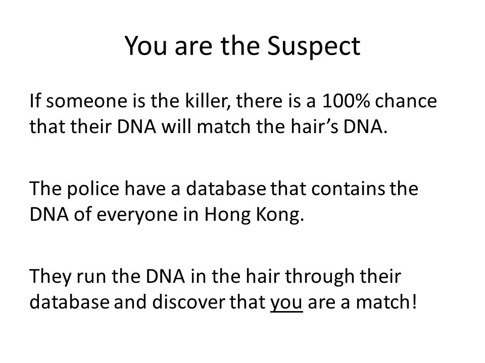 You are the Suspect