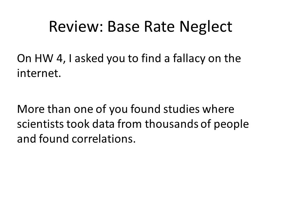 Review: Base Rate Neglect