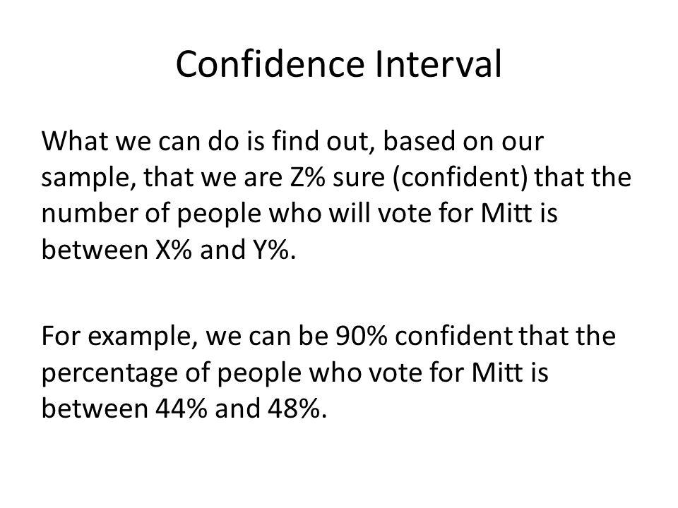 Confidence Interval