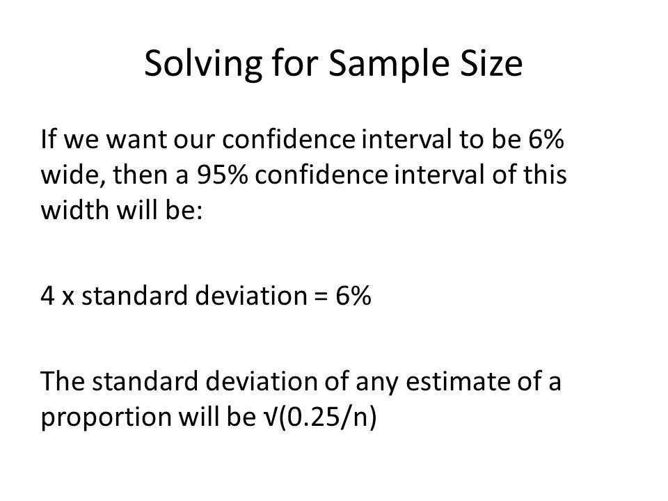 Solving for Sample Size