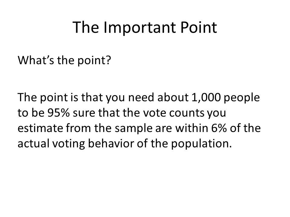The Important Point