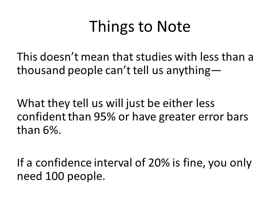 Things to Note