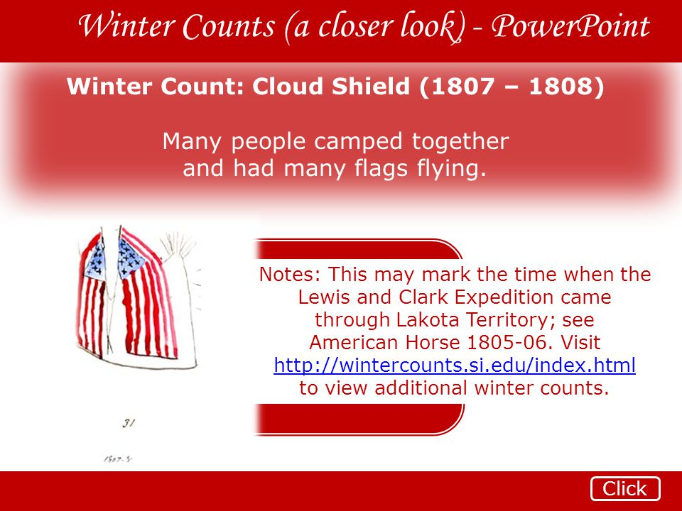 Winter Count: Cloud Shield (1807 – 1808)