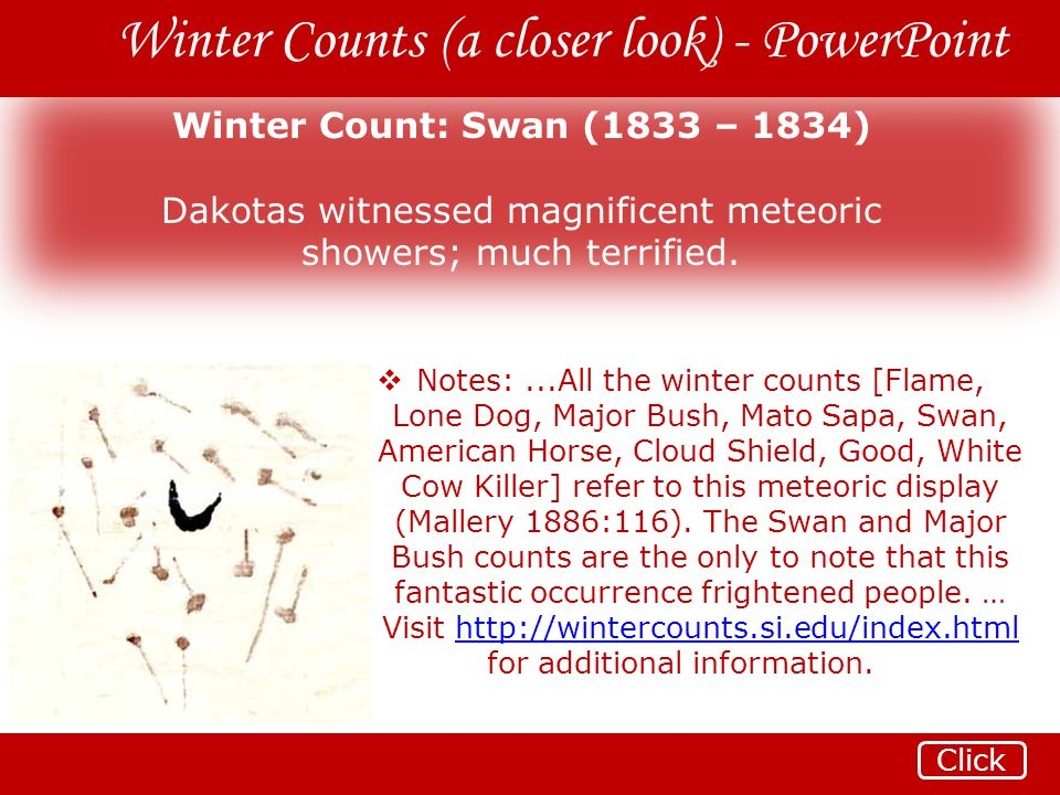 Winter Counts (a closer look) - PowerPoint