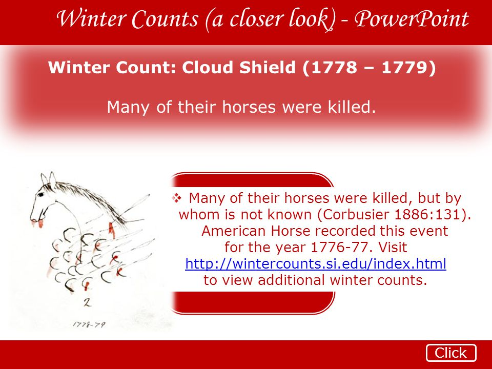 Winter Count: Cloud Shield (1778 – 1779)