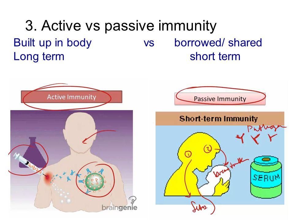 3. Active vs passive immunity