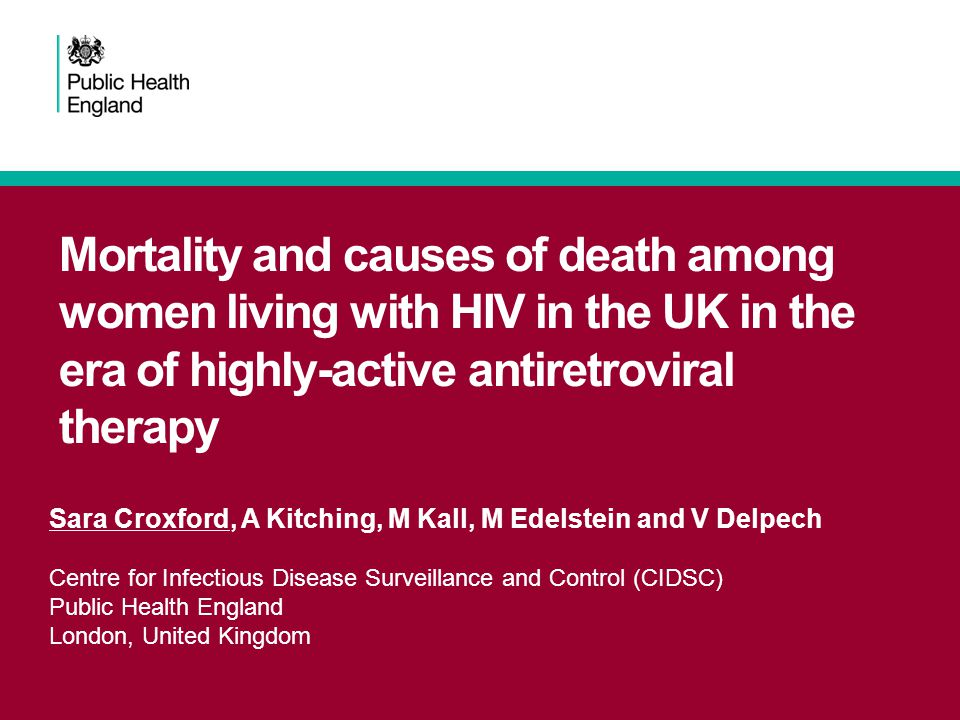 Mortality and causes of death among women living with HIV in the UK in the era of highly-active antiretroviral therapy