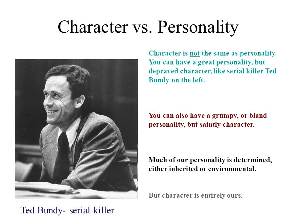 Character vs. Personality