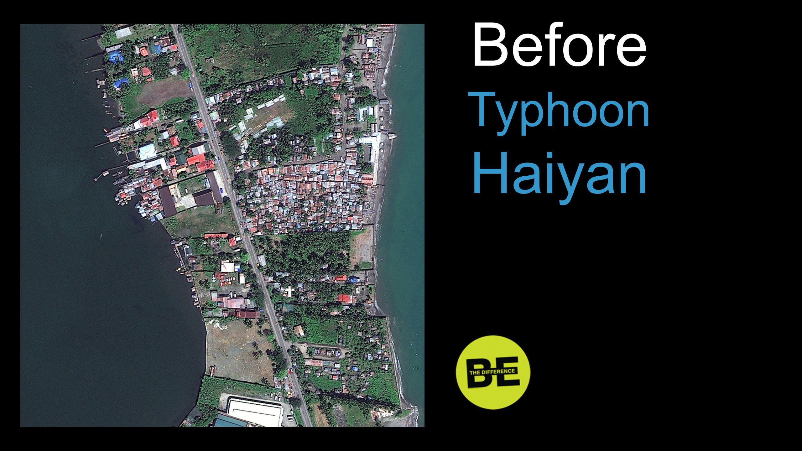 Before Typhoon Haiyan Before …