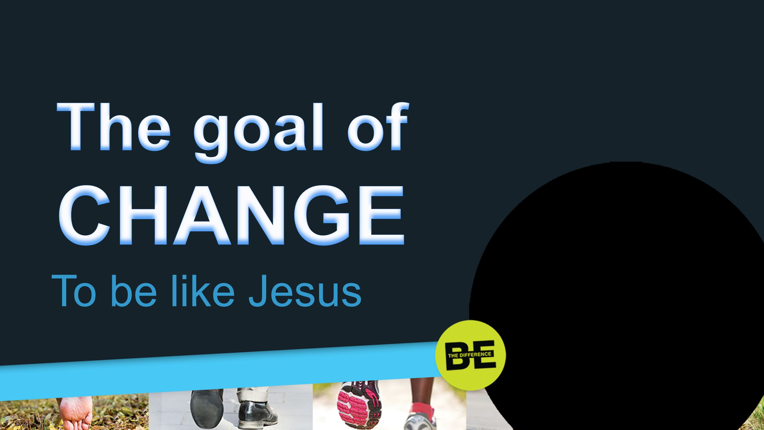 The goal of CHANGE To be like Jesus 3. The goal of change