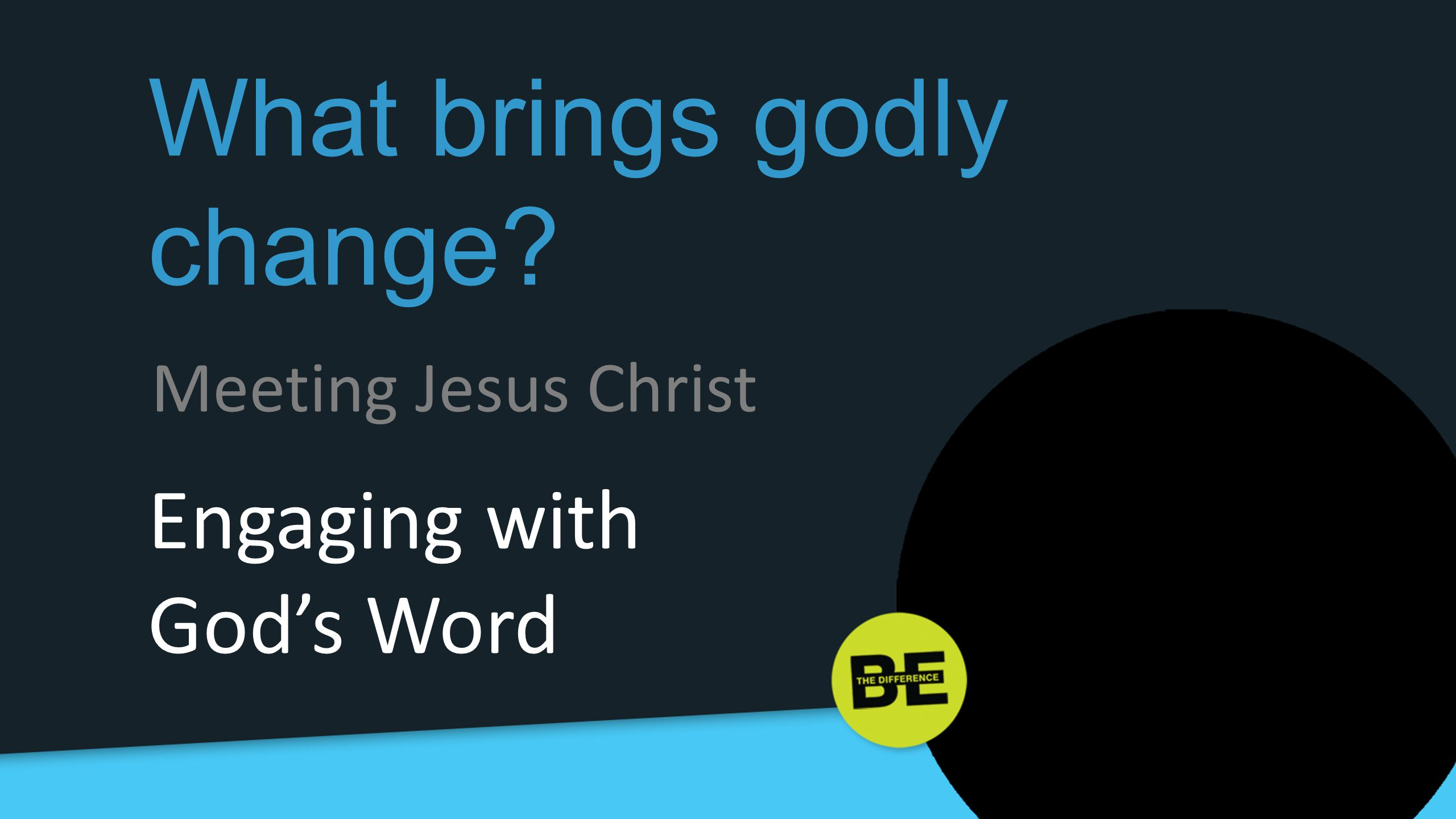 What brings godly change