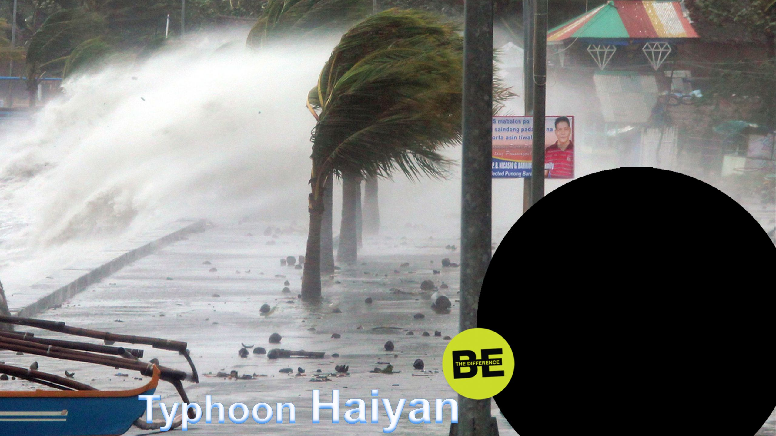 Example: Typhoon Haiyan that hit the Philippines on 7 November 2013