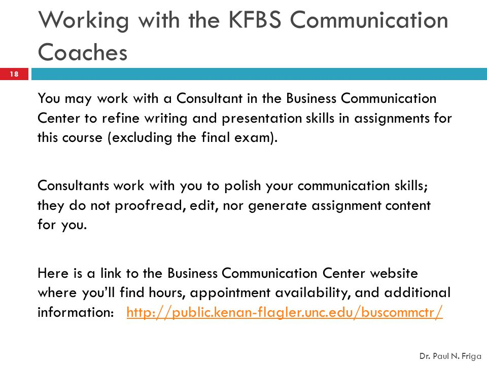 Working with the KFBS Communication Coaches