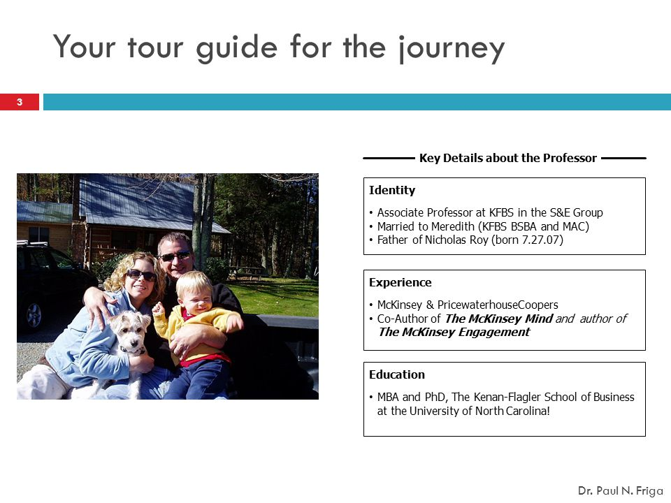 Your tour guide for the journey