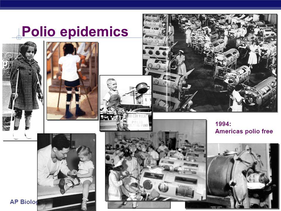 Polio epidemics 1994: Americas polio free