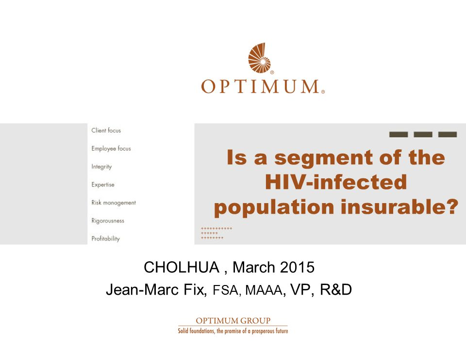 Is a segment of the HIV-infected population insurable