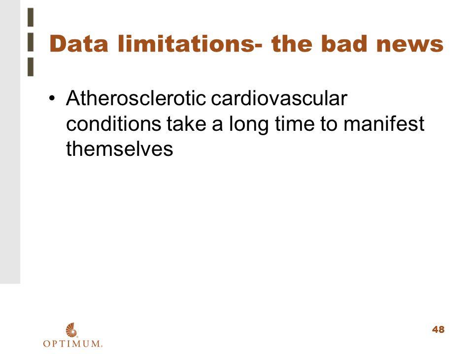 Data limitations- the bad news