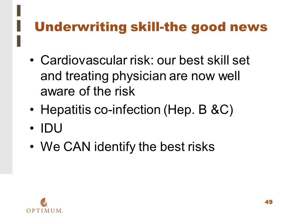 Underwriting skill-the good news