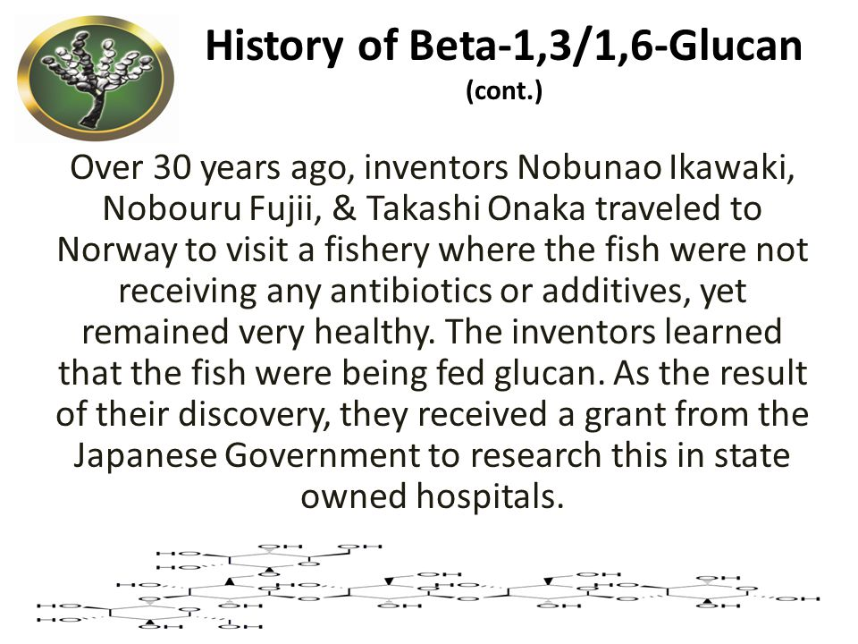 History of Beta-1,3/1,6-Glucan (cont.)