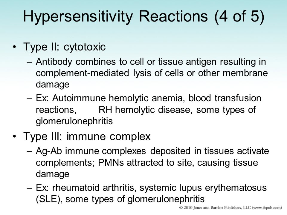 Hypersensitivity Reactions (4 of 5)