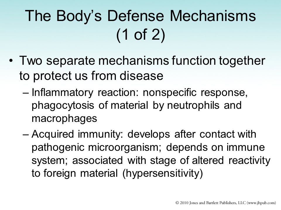 The Body's Defense Mechanisms (1 of 2)