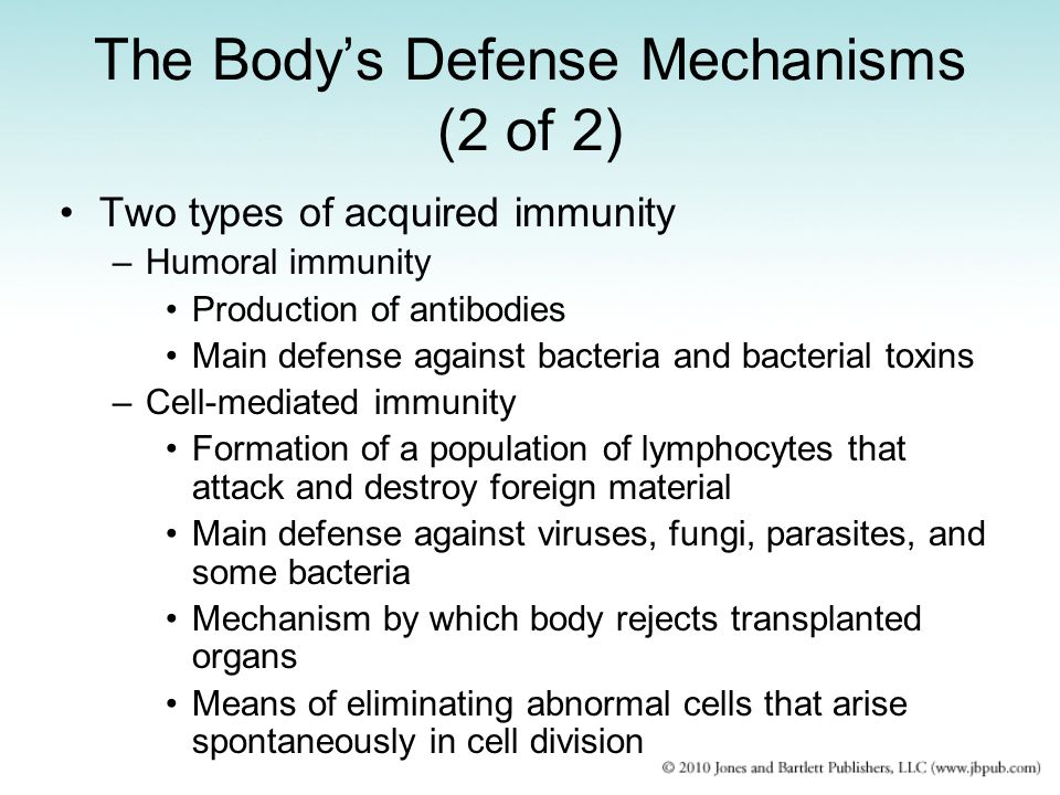 The Body's Defense Mechanisms (2 of 2)