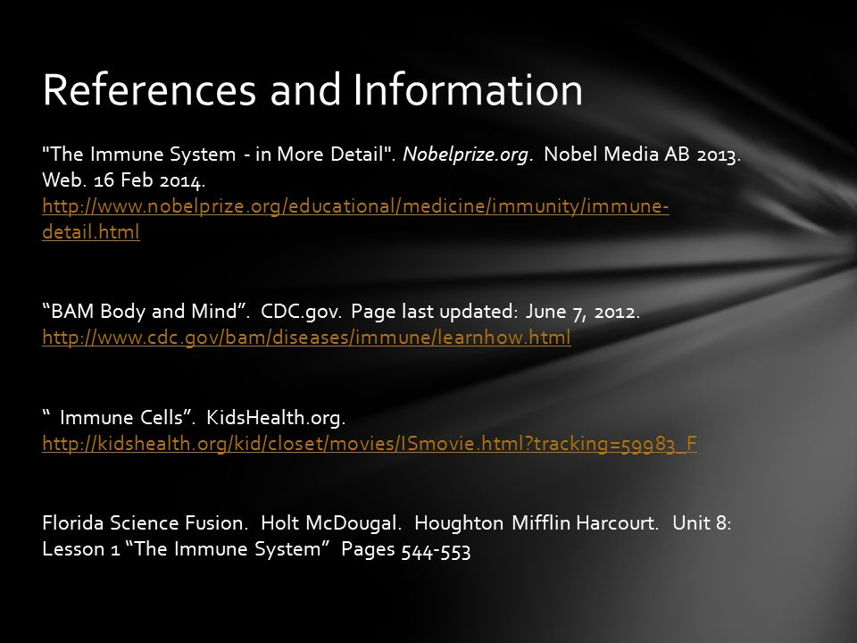 References and Information