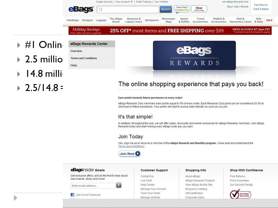 #1 Online bag retailer since 1999