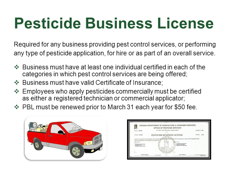 Pesticide Business License