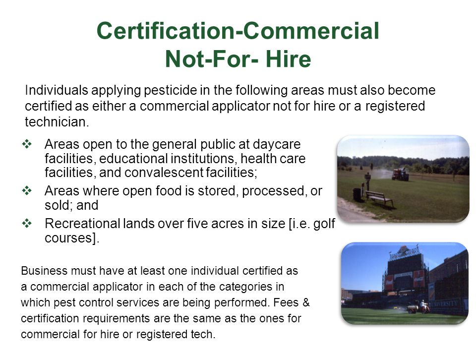Certification-Commercial Not-For- Hire