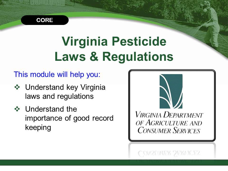 Virginia Pesticide Laws & Regulations