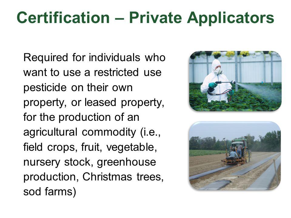 Certification – Private Applicators