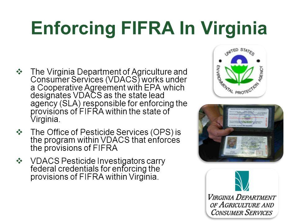 Enforcing FIFRA In Virginia