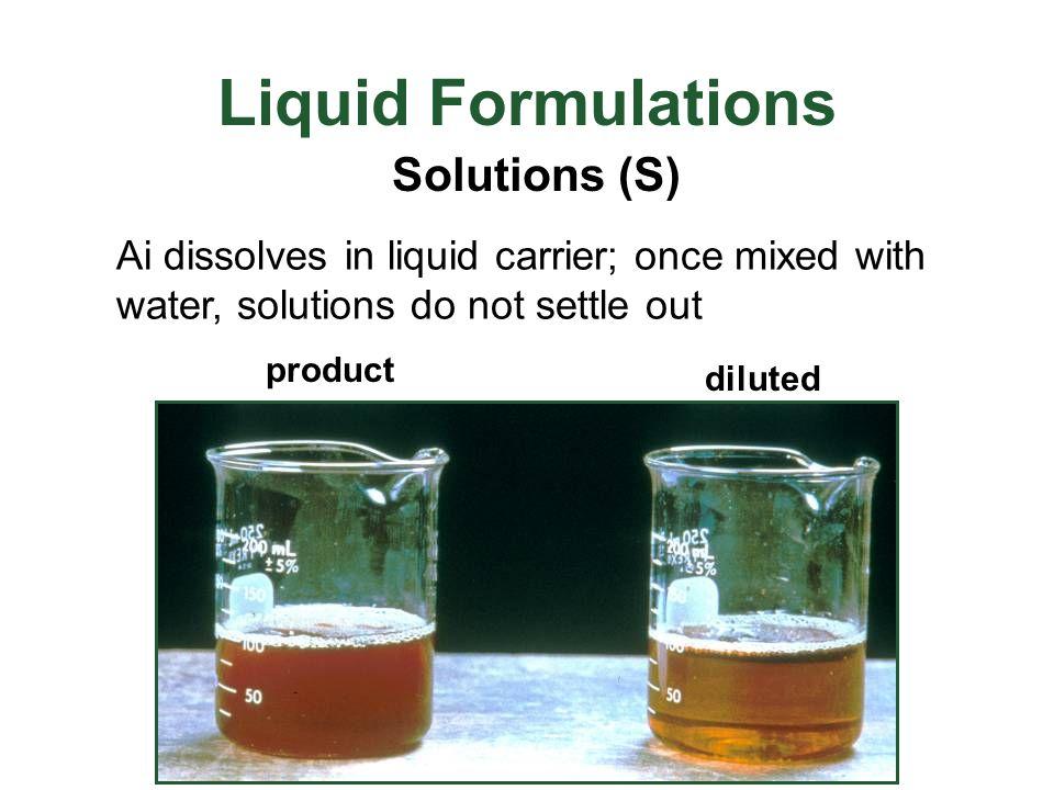 Liquid Formulations Solutions (S)