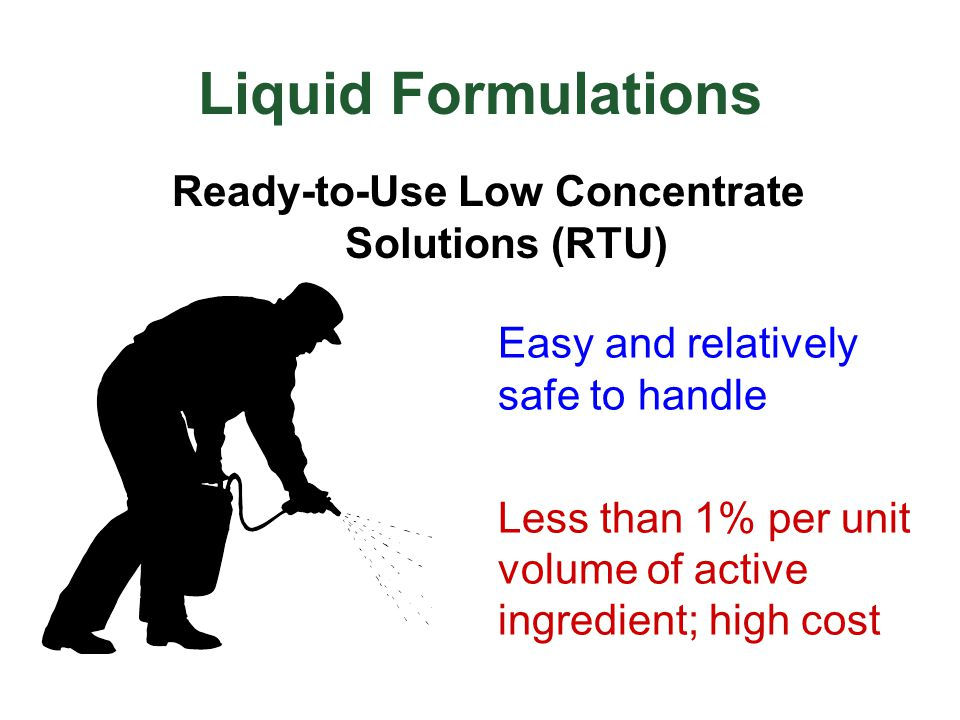Ready-to-Use Low Concentrate Solutions (RTU)