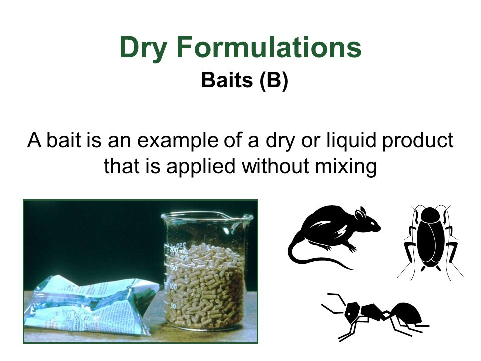Dry Formulations Baits (B)
