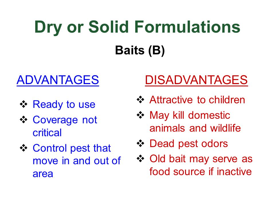 Dry or Solid Formulations